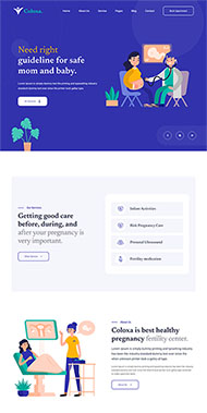 婦幼保健醫療服務網站模板