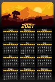 2021年日歷全年表圖片
