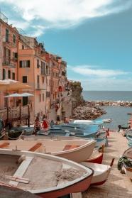 歐洲海邊小鎮圖片