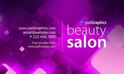 紫色絢麗psd名片模板