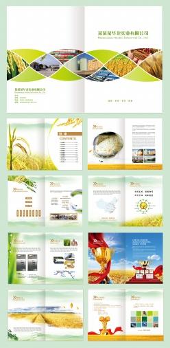 糧食農業畫冊模板設計