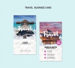 旅行社名片模板