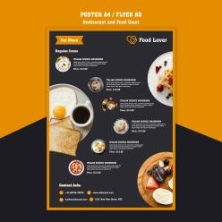 餐飲美食宣傳單頁設計