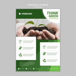綠色環保宣傳單設計