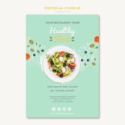 小清新餐飲宣傳單設計