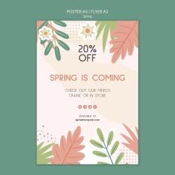 春季英文促銷海報ps素材