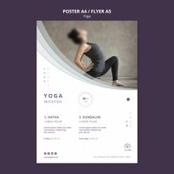 瑜伽招生宣傳單模板