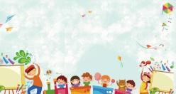 幼儿园开学季背景设计ps素材