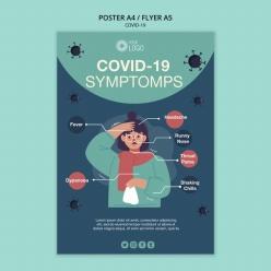 新冠病毒PSD宣傳海報