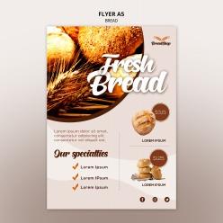 美味面包宣傳單頁PSD模板
