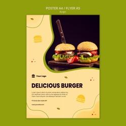 漢堡海報PSD免費素材