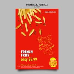 美式速食餐廳海報模板PSD