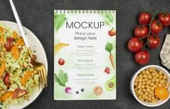 健康食物海報樣機模板