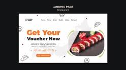 壽司餐廳登錄頁模板