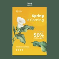 春季促銷海報模板