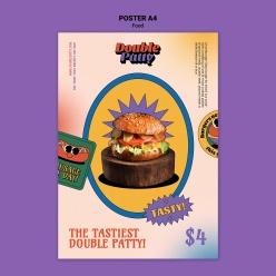 漢堡宣傳招貼PSD設計