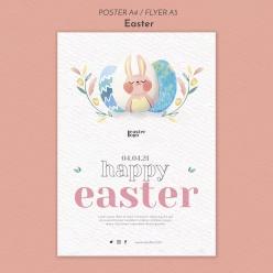 快乐复活节海报设计