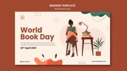 世界图书日广告海报模板
