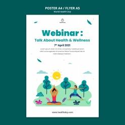 世界健康日宣传单模板