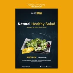 餐廳食物宣傳海報設計