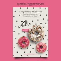 甜甜圈PSD廣告海報設計