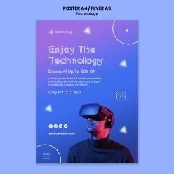 虛擬現實海報模板