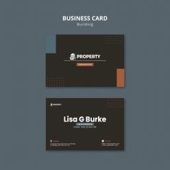 黑色房地產卡片PSD素材