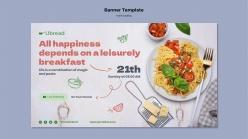 美味意面PSD廣告海報
