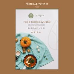 菜單封面設計PSD模板