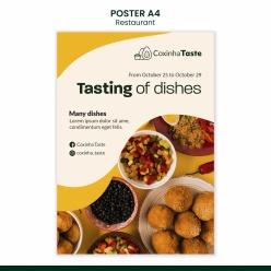 美味巴西美食海報模板