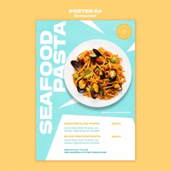 美味意大利面餐廳海報設計