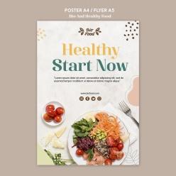 健康餐食廣告海報設計