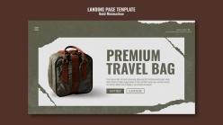 旅行包登錄頁模板