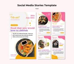 日式壽司美食宣傳單設計