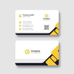 黃黑簡約名片模板設計