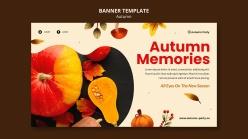 秋季橫幅模板PSD模板設計