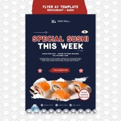 日式壽司廣告海報設計