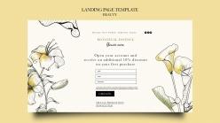 美容院登錄頁模板設計