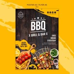 BBQ烤肉美食海報設計