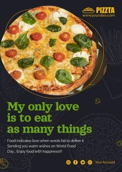 美味披薩廣告海報設計PSD