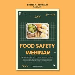食品安全海報設計模板