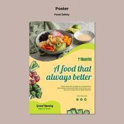 果蔬沙拉美食招貼海報